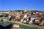 Ville médiévale de Nérac, sur les bords de la Baîse, Lot et Garonne, Aquitaine, France, Europe