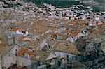 Vue sur la ville de Dubrovnik, Dalmatie, dalmate côte Adriatique, Croatie, Europe
