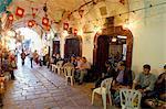 Café Maure, Medina, Tunis, Tunisie, l'Afrique du Nord, Afrique