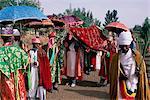 Men in procession during the Christian festival of Rameaux,Axoum (Axum) (Aksum),Tigre region,Ethiopia,Africa