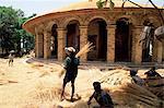 Christian church of Narga Selassie,island of Dek,Lake Tana,Gondar region,Ethiopia,Africa