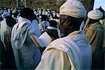 Christian pilgrims,Easter festival,Sainte Marie de Sion (St. Mary of Zion),Axoum (Axum) (Aksum),Tigre region,Ethiopia,Africa