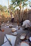 Batour village of the Anouak (Anuak) ethnic people,edge of Lake Tata,Ilubador state,Ethiopia,Africa
