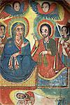 Painting in Ura Kedane Meheriet church,Zege Peninsula,Lake Tana,Gondar,Ethiopia,Africa