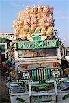 Jeepney, port de Lucena, zone sud, l'île de Luzon, aux Philippines, Asie du sud-est, Asie