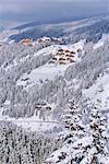 Meribel in winter,Rhone-Alpes,France