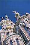 Église de la Résurrection (église sur sang répandu), Saint-Pétersbourg, Russie, Europe