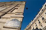Signe de champs Elysées, Paris, France