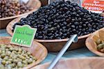 Noir Olives, marché, St Tropez, France