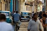 Busy street, la Havane, Cuba, Antilles, l'Amérique centrale