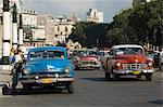 Voitures à la Havane, Cuba, Antilles, l'Amérique centrale