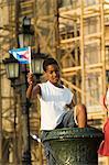 Garçon à une protestation, la Havane, Cuba, Antilles, l'Amérique centrale