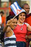 Personnes à une protestation, la Havane, Cuba, Antilles, l'Amérique centrale