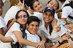 School kids at a march,Havana,Cuba,West Indies,Central America