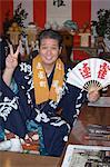 Men in yukata costume at Autumn Festival,Kawagoe,Saitama prefecture,Japan,Asia