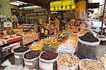 Dihua Street, commercialiser divers produits en gros, ville de Taipei, Taiwan, Asie