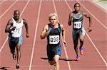 Three 100m Sprinters