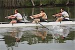 Rowers Rowing Hard