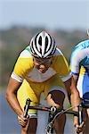 Cycliste cyclisme sur route