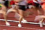 Concurrentiels coureurs sur piste
