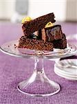 Orange Chocolate Almond Cake With Orange Zest