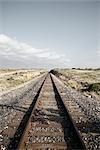 Voies ferrées, Amistad National Recreation zone, Texas, Etats-Unis