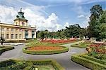 Gardens at Wilanow Palace, Wilanow, Warsaw, Poland