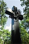 Sculpture at Powazki Cemetery, Warsaw, Poland