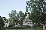 Monument to Adam Mickiewicz, Krakowskie Przedmiescie, Warsaw, Poland