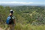 Tourisme au jardin botanique National Kirstenbosch, Cape Town, Western Cape Province, Afrique du Sud
