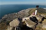 Sea Point à partir de Lions Head, Table Mountain National Park, Cape Town, Western Cape Province, Afrique du Sud