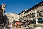 Piazza di Erbe, Verona, Veneto, Italy, Europe