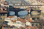 Ponte Vecchio, la rivière Arno, Florence, Toscane, Italie, Europe