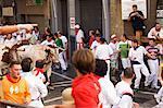 San Fermin, le fonctionnement de le taureaux Festival, Pampelune, Navarre, pays basque, Espagne, Europe