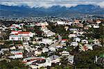 Vue panoramique des maisons suburbaines, Wellington, North Island, Nouvelle-Zélande, Pacifique