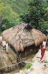 Woman carrying baby, Buscalan Village near Tinglayan, The Cordillera Mountains, Kalinga Province, Luzon, Philippines, Southeast Asia, Asia