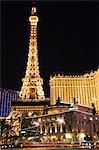 Eiffel Tower reproduction at Paris Las Vegas Casino, Las Vegas, Nevada, United States of America, North America