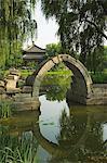 Un pont voûté à Yuanmingyuan (ancien palais d'été), Beijing, Chine, Asie