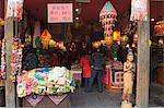 A souvenir shop on Qinghefang Old Street in Wushan district of Hangzhou, Zhejiang Province, China, Asia