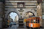 Rue tramway, Milan, Lombardie, Italie, Europe