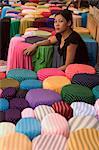 Cloth shop seller, Ho Chi Minh City (Saigon), Vietnam, Southeast Asia, Asia
