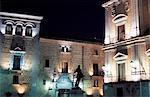 Ayuntamiento (Town Hall) floodlit at night, Plaza de la Villa, Centro, Madrid, Spain, Europe