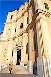 Plus beaux Baroque église de la Sainte Trinité la ville (Kostol Trinitarov), Bratislava, Slovaquie, Europe