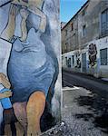 Murals, Orgosolo, island of Sardinia, Italy, Europe