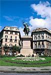 Piazza Corvetto, Gênes (Genova), Ligurie, Italie, Méditerranée, Europe