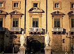 Extérieur du palais épiscopal, Palerme, Sicile, Italie, Méditerranée, Europe
