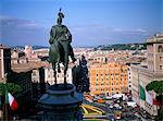 Statue de Victor Emanuel II, roi d'Italie, sur Victor Emanuel monument, Rome, Lazio, Italie, Europe