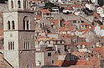 Dubrovnik, Dalmatie, Adriatique, Croatie, Europe