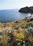 Filicudi, Iles Eoliennes (îles Lipari), l'UNESCO World Heritage Site (Italie), Méditerranée, Europe
