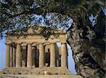 Concordia Temple, Agrigento, UNESCO World Heritage site, Sicily, Italy, Mediterranean, Europe